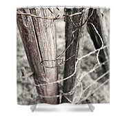 Points And Posts Shower Curtain
