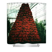 Pointsettia Tree Shower Curtain