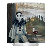 Poirrot In Tuscany Shower Curtain