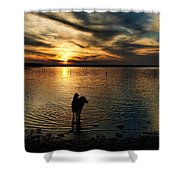 Poised For Action Shower Curtain