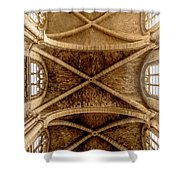 Poissy, France - Ceiling, Notre-dame De Poissy Shower Curtain