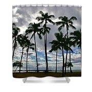 Poka'i Bay, Waianae, Hawaii  Shower Curtain