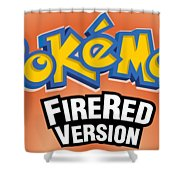 Pokemon Fire Red Emulator Shower Curtain