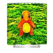 Pokemon Go Charmander - Da Shower Curtain