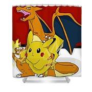 Pokemon Shower Curtain