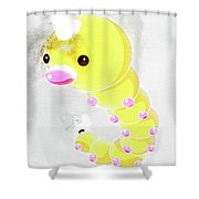 Pokemon Weedle Abstract Portrait - By Diana Van Shower Curtain
