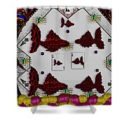 Poker Art Shower Curtain