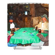 Poker Shower Curtain