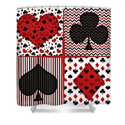 Poker In Four Shower Curtain