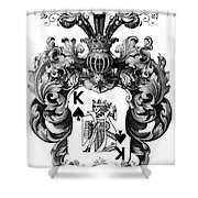 Poker King Spades Black And White Shower Curtain