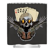 Poker Run Shower Curtain