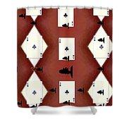 Poker Sharks Shower Curtain