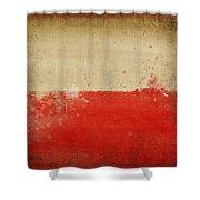Poland Flag  Shower Curtain