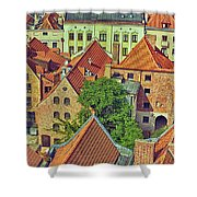 Poland, Torun, Houses. Shower Curtain