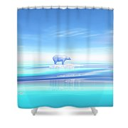 Polar Bear - 3d Render Shower Curtain