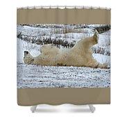 Polar Bear Yoga Shower Curtain