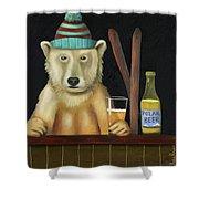 Polar Beer Shower Curtain