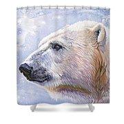 Polar Blue Shower Curtain