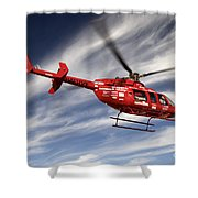 Polar First Helicopter Shower Curtain