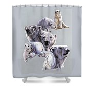 Arctic King Shower Curtain