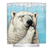 Polar Prayer Shower Curtain