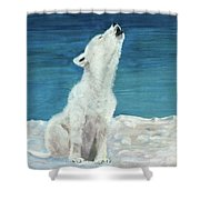 Polar Pup Shower Curtain