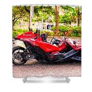 Polaris Slingshot Sl Tricycle Shower Curtain