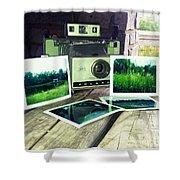 Polaroid Land 320 Shower Curtain