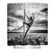 Pole Dance Reach Hdr Shower Curtain