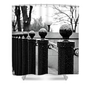 Poles Shower Curtain