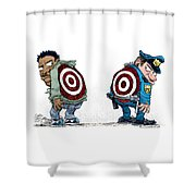 Police And Black Folks Are Targets Shower Curtain