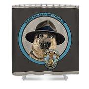 Police Dog Shower Curtain