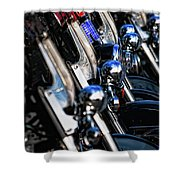 Police Motorcycles Shower Curtain