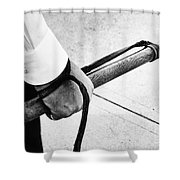 Police Nightstick Shower Curtain