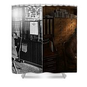 Police - The Private Eye - 1902 - Side By Side Shower Curtain