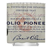 Polio Certificate, 1954 Shower Curtain