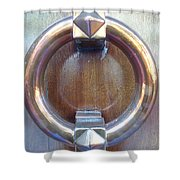 Polished Door Knocker Shower Curtain