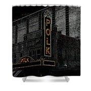 Polk Movie House Shower Curtain by David Lee Thompson