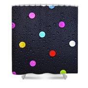 Polka Dot Umbrella Shower Curtain
