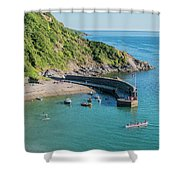 Polkerris Beach And Harbour Shower Curtain