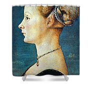 Pollaiuolo: Young Woman Shower Curtain