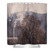 Pollution V2 Shower Curtain