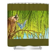 Polly And Her Friend, Elfie Shower Curtain