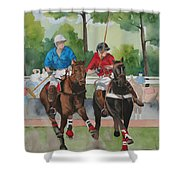 Polo In The Afternoon 2 Shower Curtain
