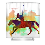 Polo Player Shower Curtain