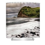 Pololu Whitewash Shower Curtain