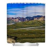 Polychrome Pass Area Denali National Park Four Shower Curtain