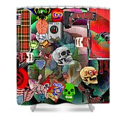 Polyester Plaid Shower Curtain