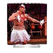 Polynesian Warrior Dancer Shower Curtain