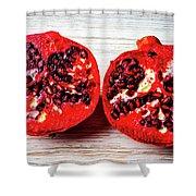 Pomegranate Cut In Half Shower Curtain